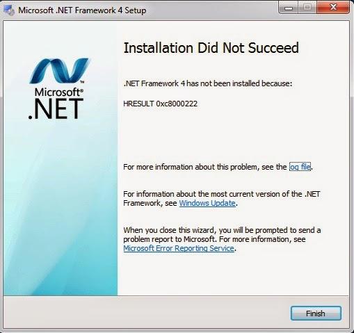 Sửa lỗi Hresult 0xc8000222 khi cài Net framework 4.0