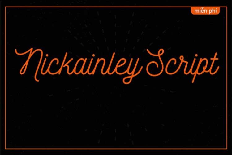 [Download] Font chữ Script Nickainley Việt hóa