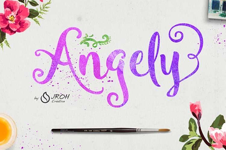 [Download] Font chữ Script Angely Việt hóa