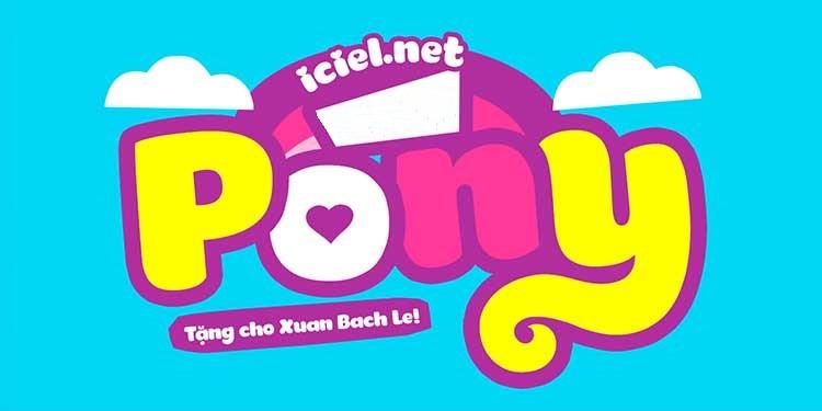 [Download] Font chữ ngộ nghĩnh Pony Việt hóa