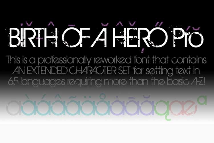 [Download] Font chữ eroded Birth Of A Hero Việt hóa