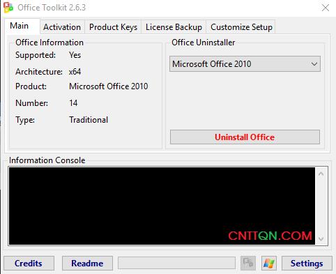 ToolKit 2.6.3 công cụ cr@ck Microsoft Office và Windows