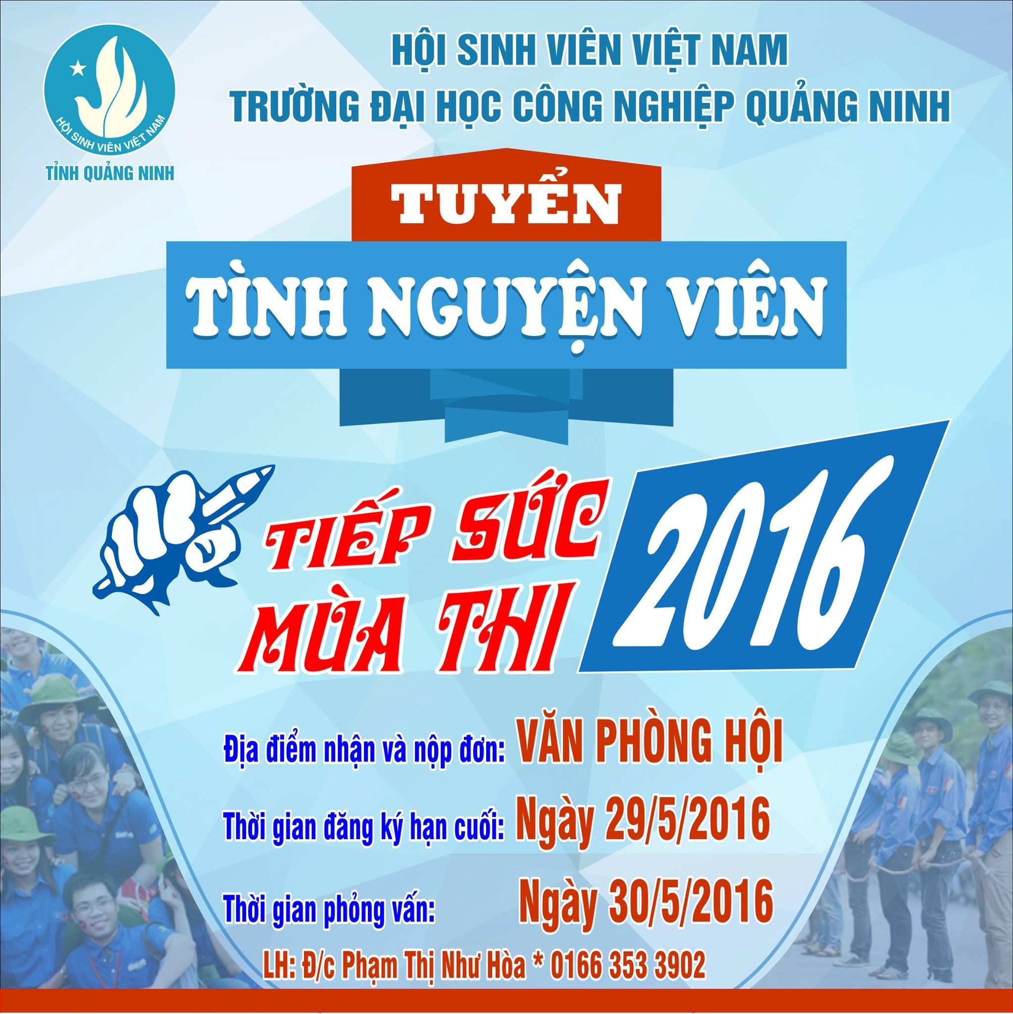 Chương trình tiếp sức mùa thi và tình nguyện hè 2016 - ĐHCN Quảng Ninh