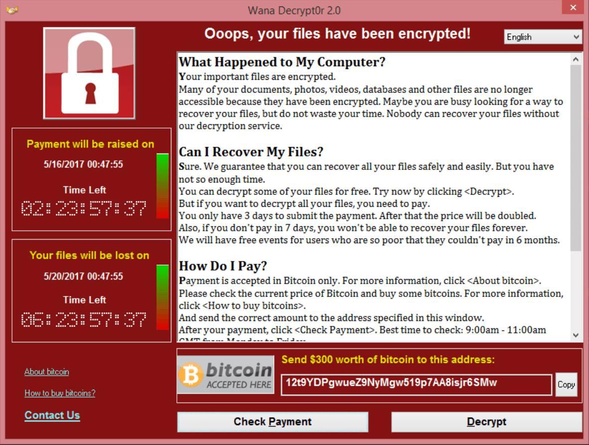 """Download virus Ransomware """"WanaCrypt0r 2.0"""" bản mới nhất"""