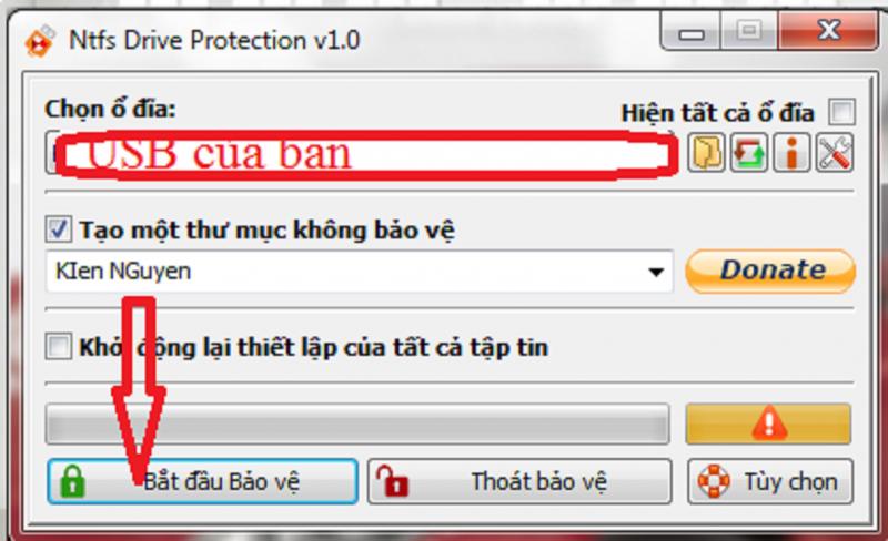 Phần mềm đóng băng USB khỏi virus xâm nhập ăn mất tài liệu