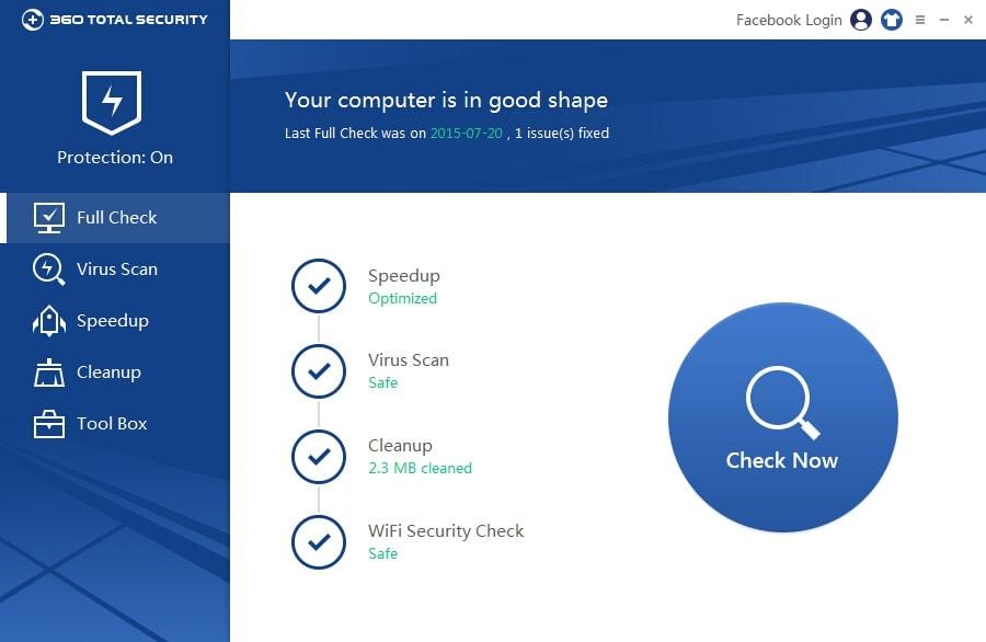 360 Total Security 9.0.0.1196 - Phần mềm diệt virus miễn phí