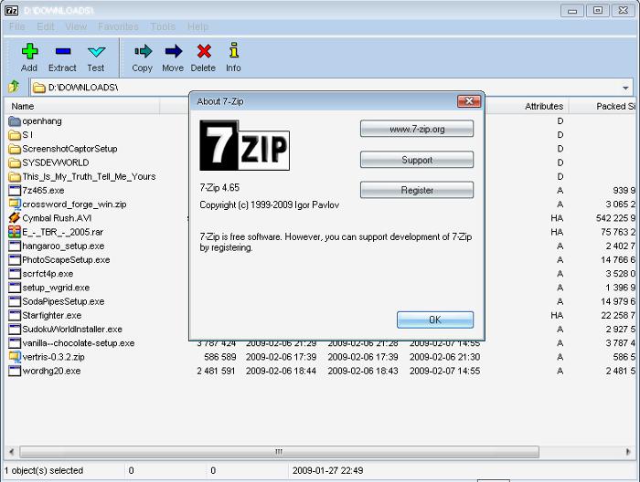 7-Zip 16.04 – Phần mềm nén, giải nén dữ liệu