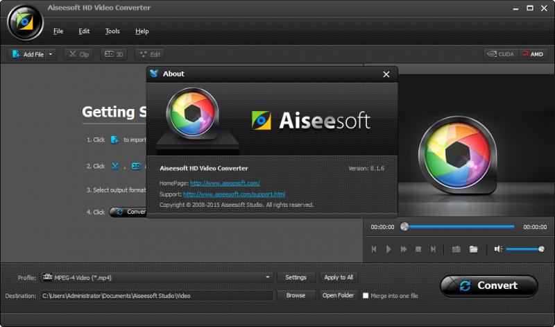 Aiseesoft HD Video Converter 9.0 - Chuyển đổi đa định dạng