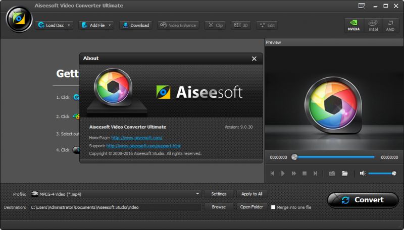 Phần mềm Aiseesoft Video Converter Ultimate 9.0.30 Full