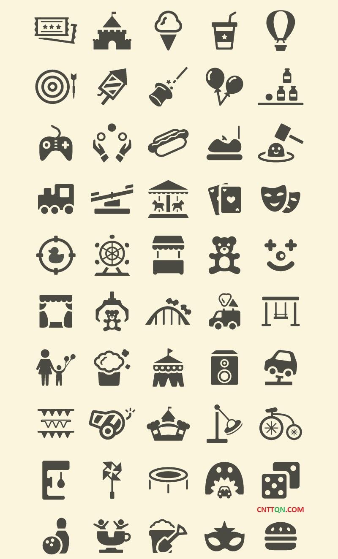 [Icons] Chia sẻ icon khu vui chơi giải trí cho dân designer