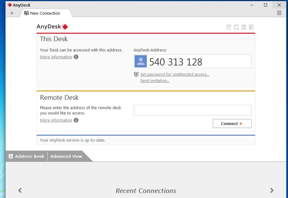 AnyDesk 3.1.1 - Phần mềm kết nối - truy cập máy tính từ xa