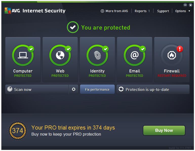 AVG Internet Security 2016 full + KEY