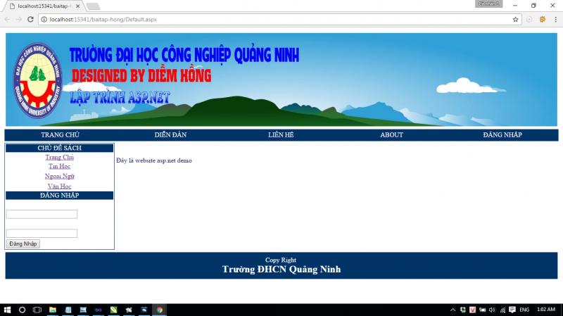 Bài tập sử dụng MasterPage ASP.NET C# - 2Điểm