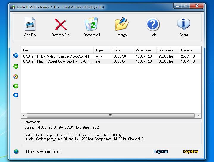 Boilsoft Video Joiner 6.57 ful - Ghép nhiều đoạn Video làm một