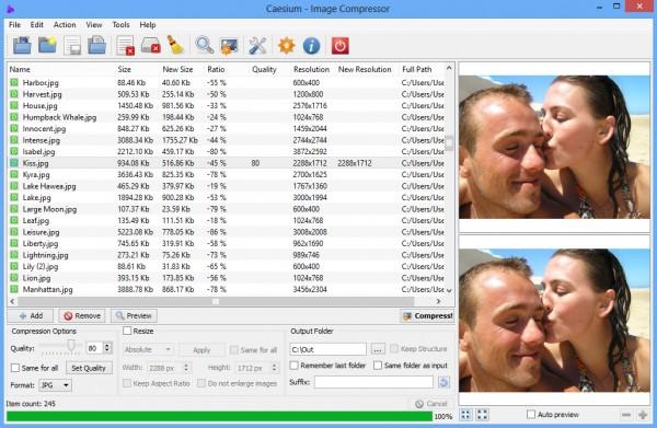 Caesium 1.7 - Giảm dung lượng hình ảnh đến 90%