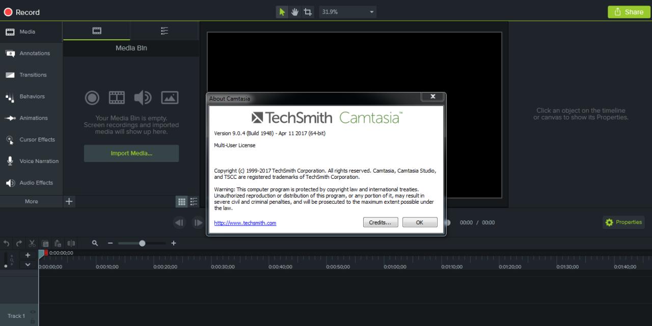 [Download] Phần mềm Camtasia Studio 9.0.4 Full + Thuốc