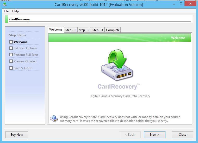 Card Recovery 6.0 Build 1012 - Phục hồi dữ liệu thẻ nhớ