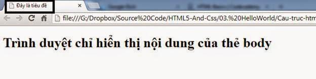 Cấu trúc một trang web HTML