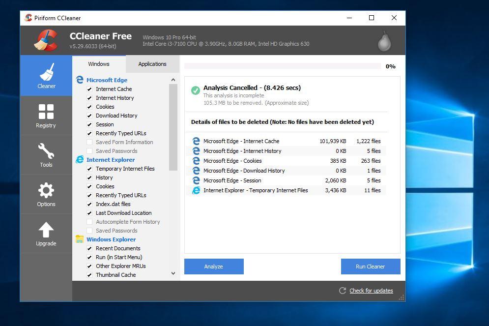 CCleaner 5.29.6033 - Phần mềm tối ưu, dọn rác cho máy tính