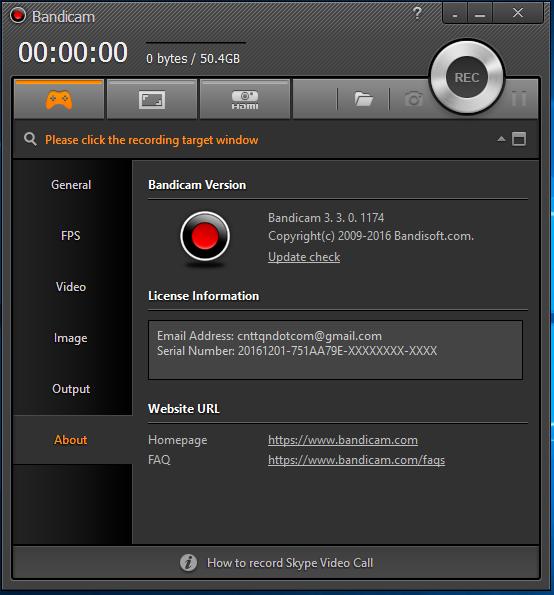 Bandicam 3.3.0.1174 Full - Phần mềm quay video game