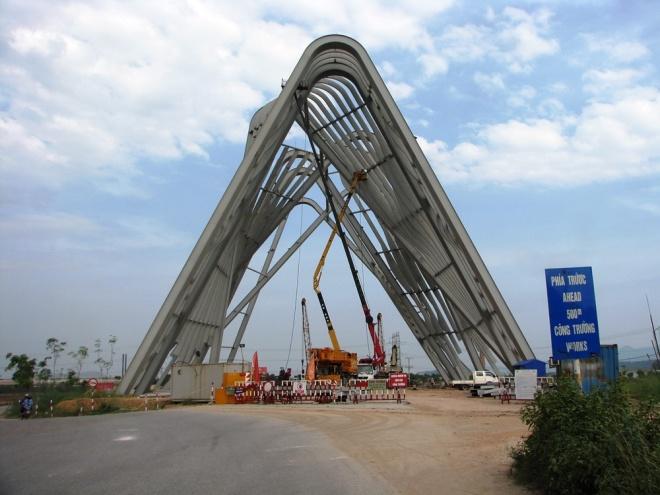 Cổng chào hai trăm tỷ ở Quảng Ninh