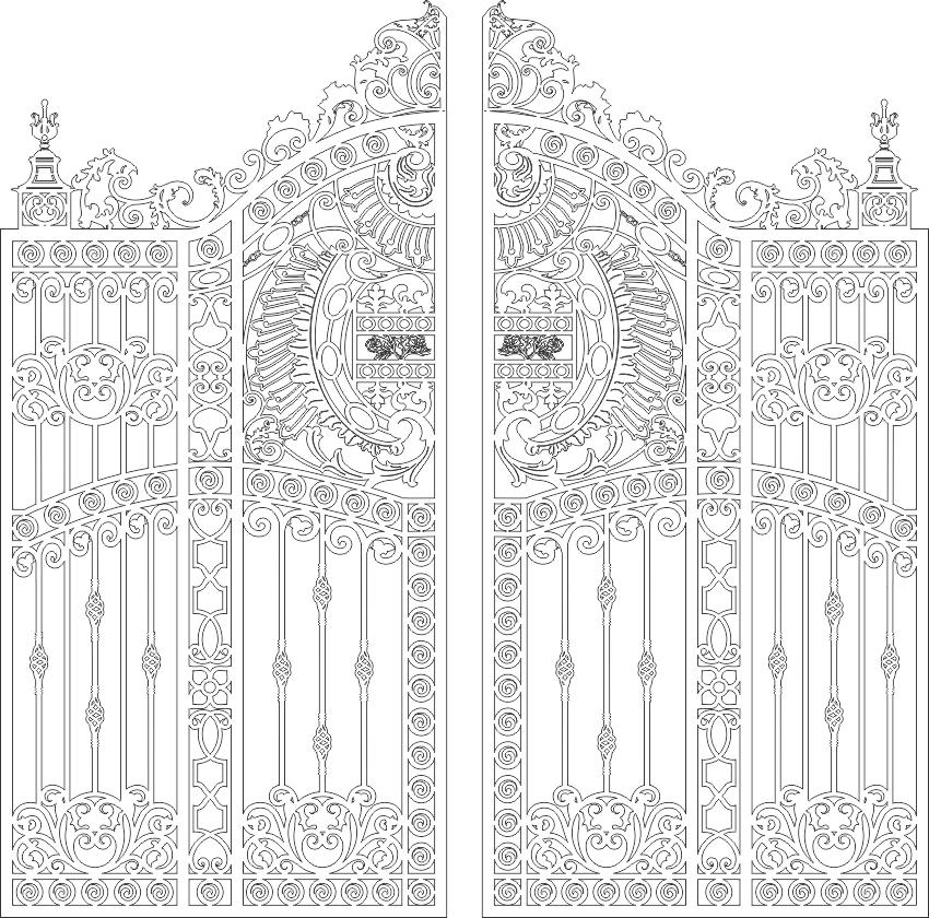 [CNC] Cổng cửa cắt CNC tuyệt đẹp file DXF