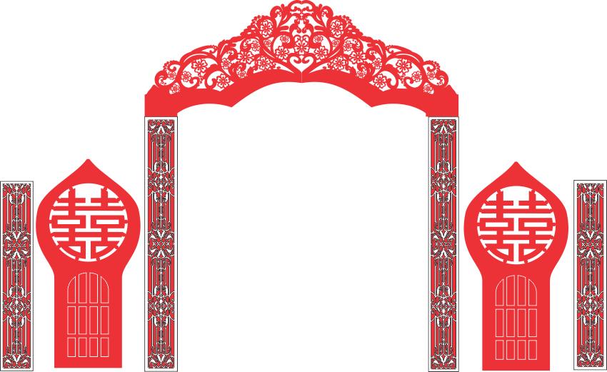 [Vector] Tổng hợp cổng cưới đẹp file CorelDraw
