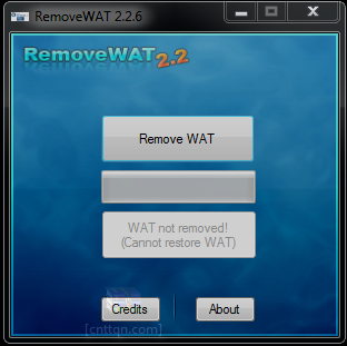 RemoveWAT 2.2.8 - Phần mềm crack windows 7