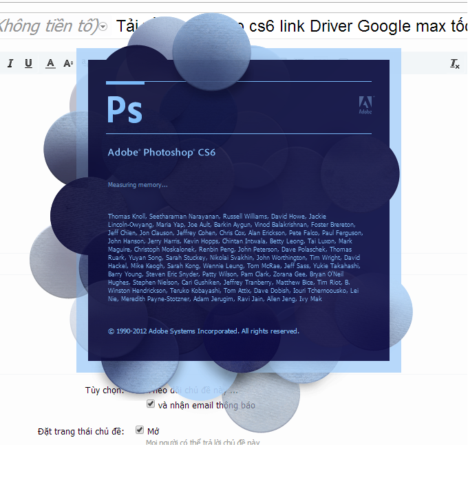 Photoshop CS6 x32/x64 full crack link Drive Google