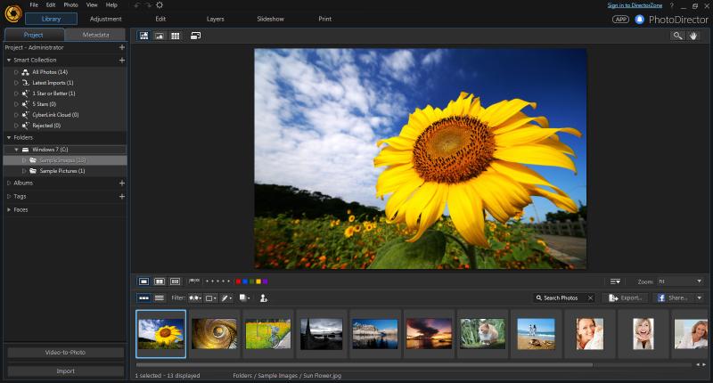 CyberLink PhotoDirector 8.0 - Quản lý, chỉnh sửa ảnh đơn giản