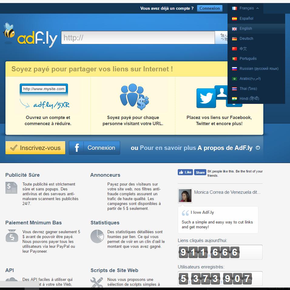 Hướng dẫn đăng ký kiếm tiền Adf.ly giá 0.65$/1k.view