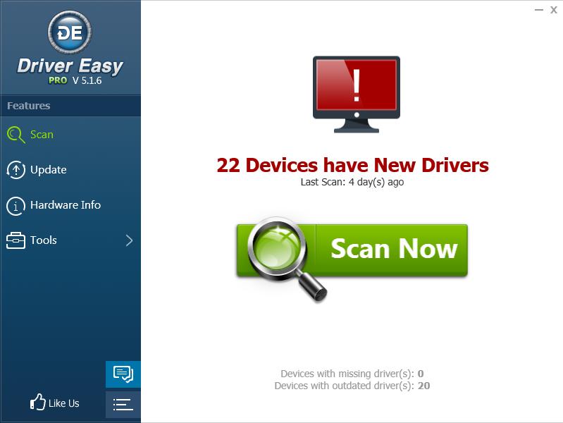 Driver Easy 5.1.6 Professional Full cr@ck - Cài Driver tự động