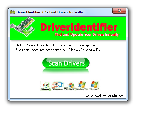 Phần mềm tìm driver online driveridentifier