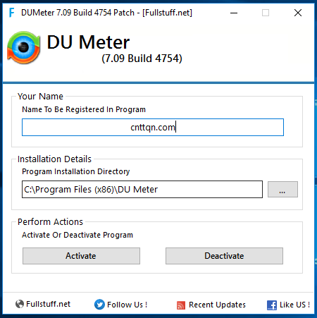 DU Menter 7.09 Build 4754 - Theo dõi lưu lượng truy cập Internet
