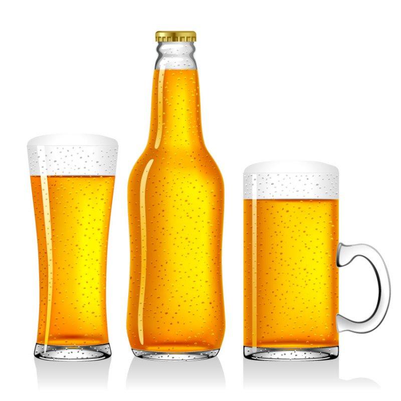 [Illustrator] Empty Beer Vector File EPS
