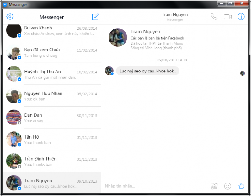 Facebook Messenger For Desktop - Chat facebook cho máy tính