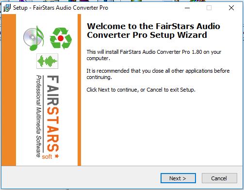 Phần mềm FairStars Audio Converter Pro 1.80 Full
