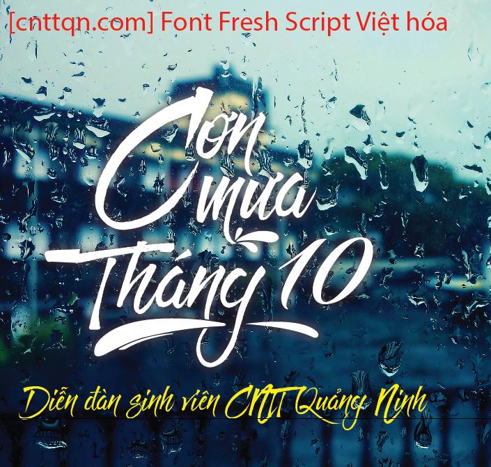 Font SVN Fresh Script Việt hóa - Cơn mưa tháng 10