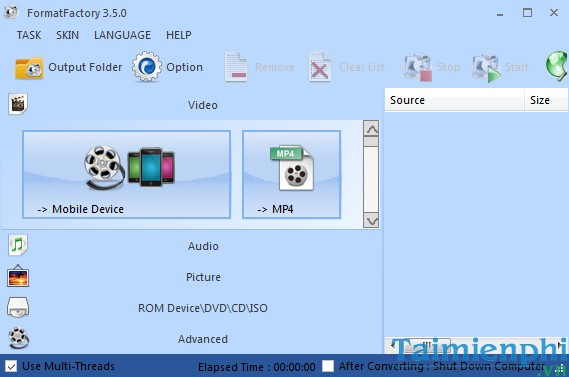Format Factory 3.9.5.0 - Chuyển đổi các định dạng video