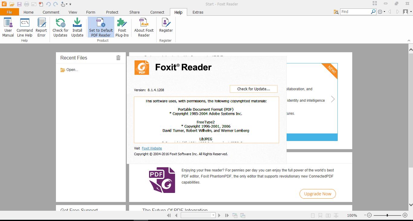 Foxit Reader 8.1.4.1208 final - trình đọc PDF miễn phí nhỏ gọn