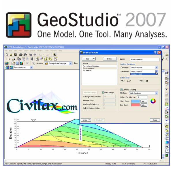 Download GeoStudio 2007 - bộ phần mềm địa kỹ thuật