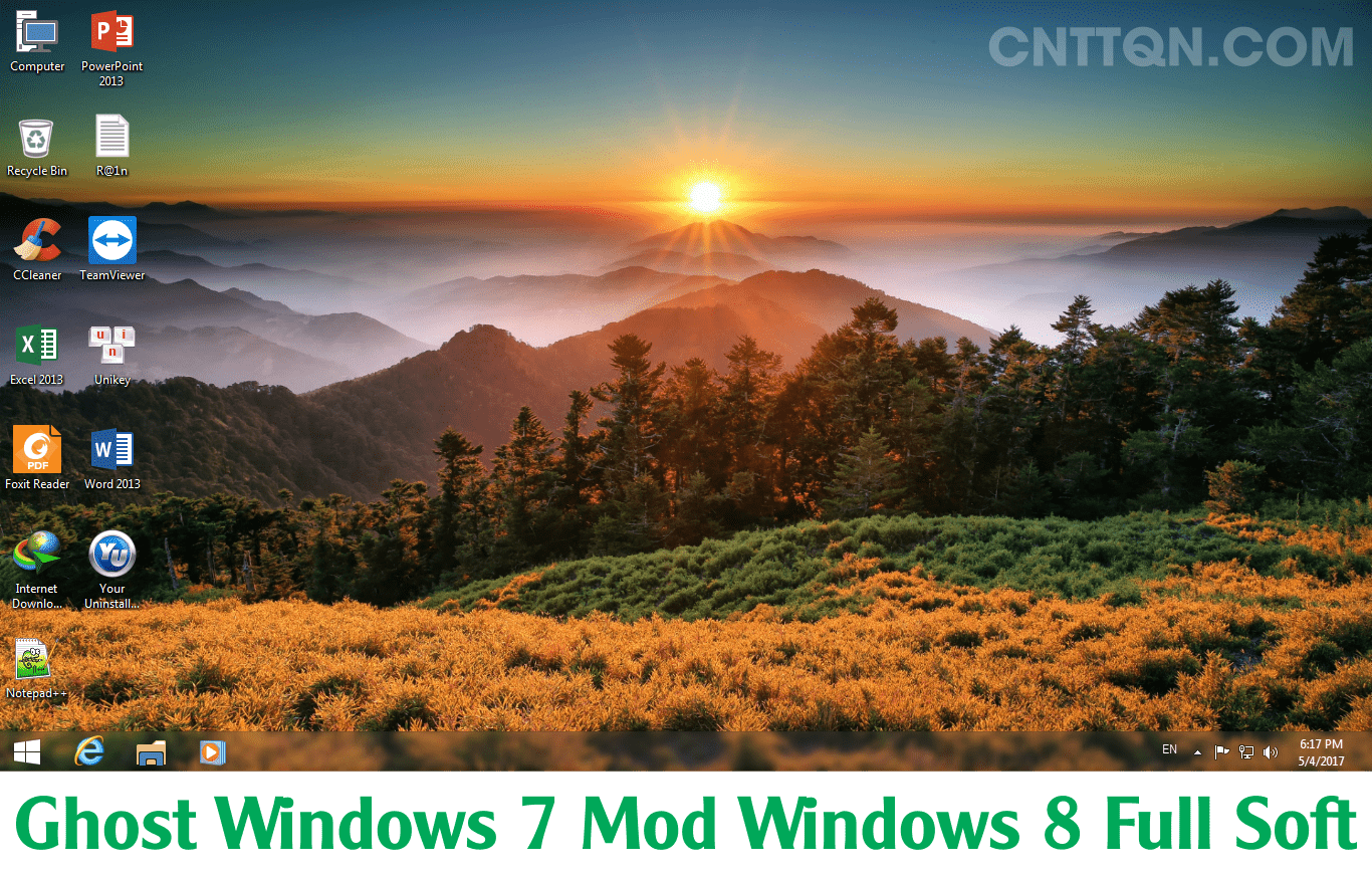 Ghost Windows 7 Ultimate Mod Windows 8 Full Soft + Driver