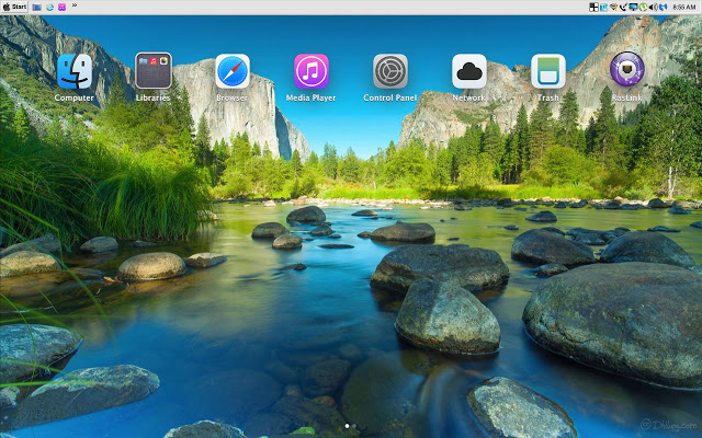 Giao diện Mac OS X Mavericks tuyệt đẹp cho Windows