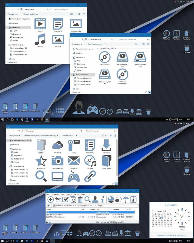 Giao diện OMN phẳng cực đẹp cho Windows 10