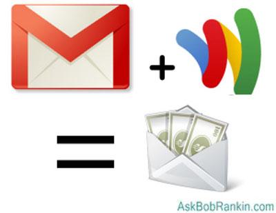 Google mở dịch vụ chuyển tiền trực tuyến qua Gmail