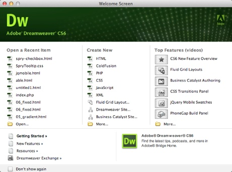 Download Dreamweaver CS6