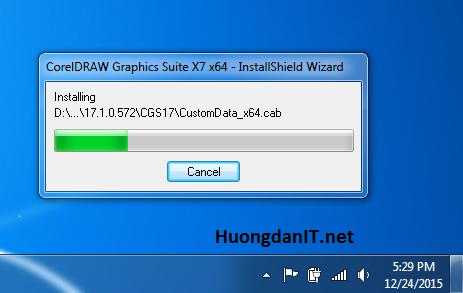Hướng dẫn cài đặt phần mềm đồ họa corel draw x7