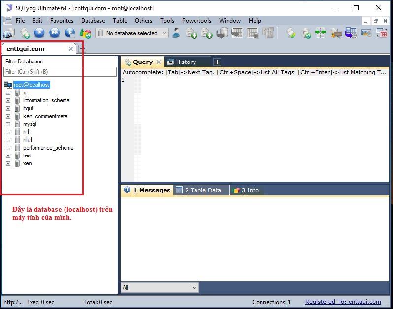 cài đặt SQLyog, sử dụng SQL yog
