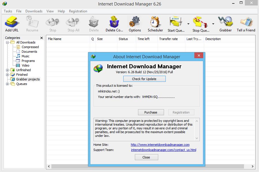 Internet Download Manager (IDM) 6.26 build 14 Full Crack