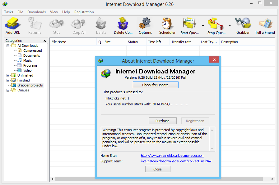 Internet Download Manager (IDM) 6.26 build 14 Full cr@ck